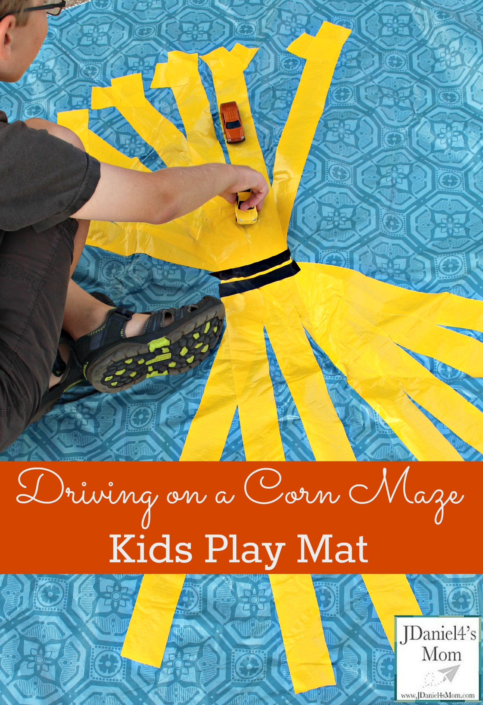 Kids Play Mat- Driving on a Corn Stalk