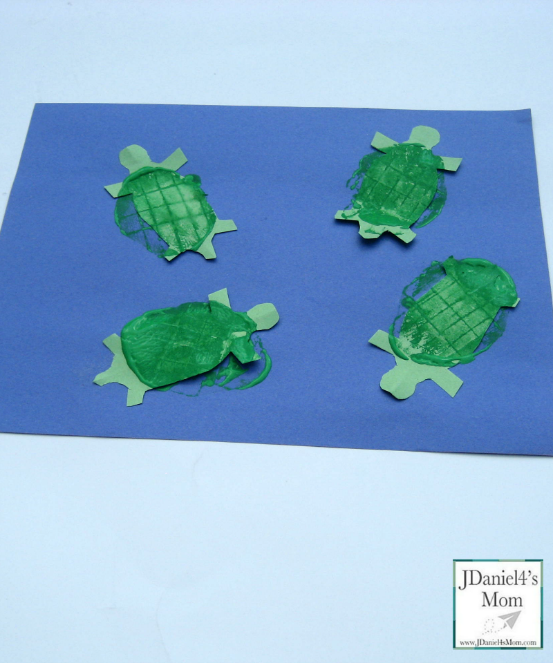 KIds Crafts- Potato Print Turtles