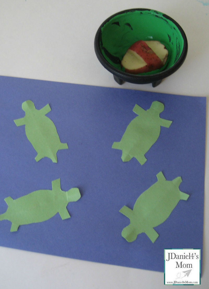 Kids-Crafts-Potato-Print-Turtles-supplies