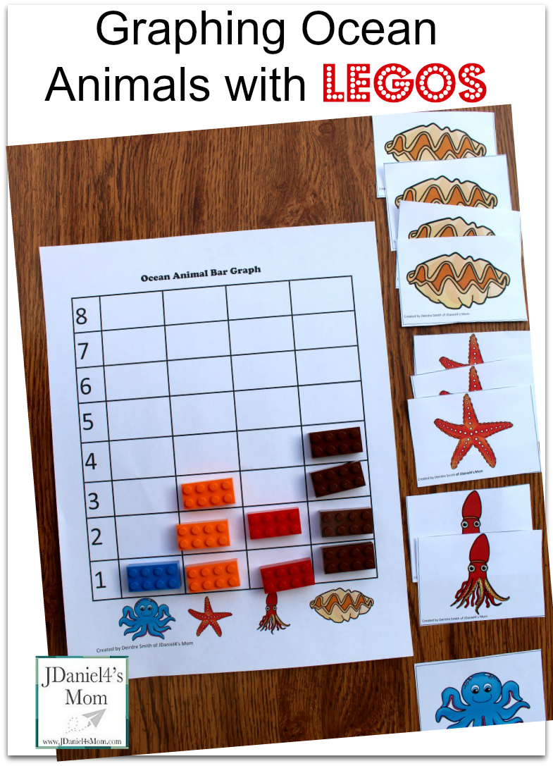 Kids Math Games- Graphing Ocean Animals with LEGOS