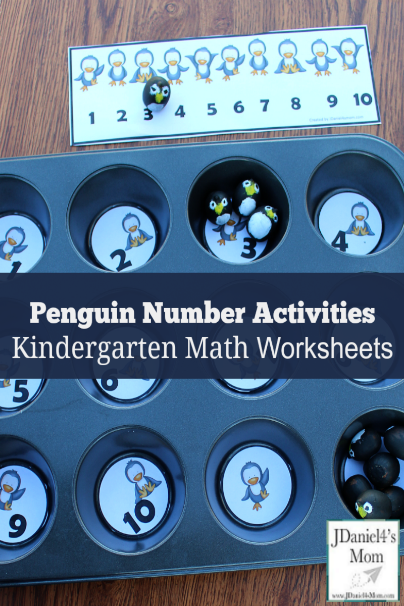 Kindergarten Math Worksheets - Penguin Number Activities