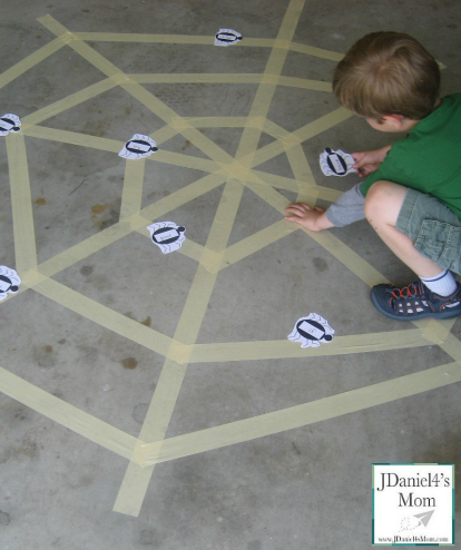 Washi, Painter's and Duct Tape Craft and Activities- Sight Word Tape Web