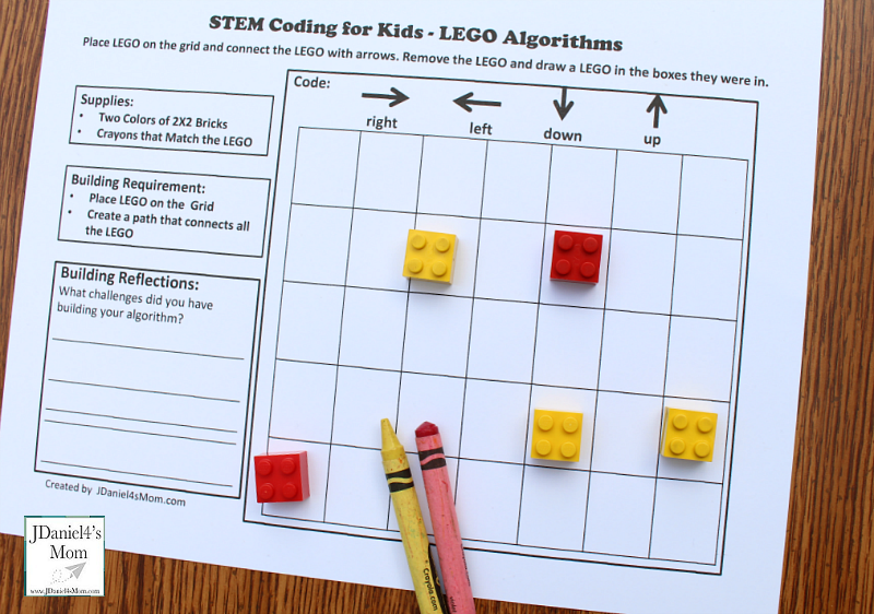 -LEGO Algorithm STEM Activity Coding for Beginners Activity (Supplies)