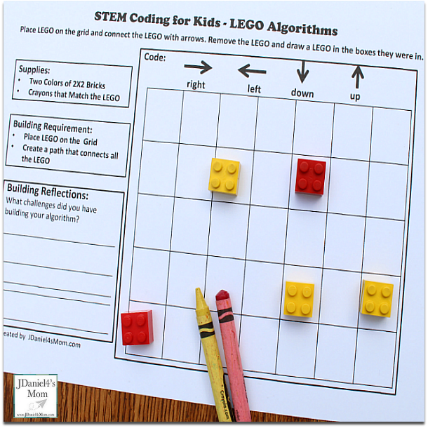-LEGO Algorithm STEM Activity Coding for Beginners : Kids will love learning to code with LEGO.