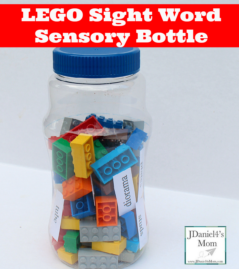 100 Fun and Easy Learning Games for Kids- LEGO Sight Word Bottle