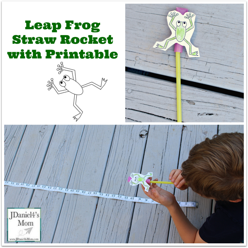 Leap Frog Straw Rocket With Printable