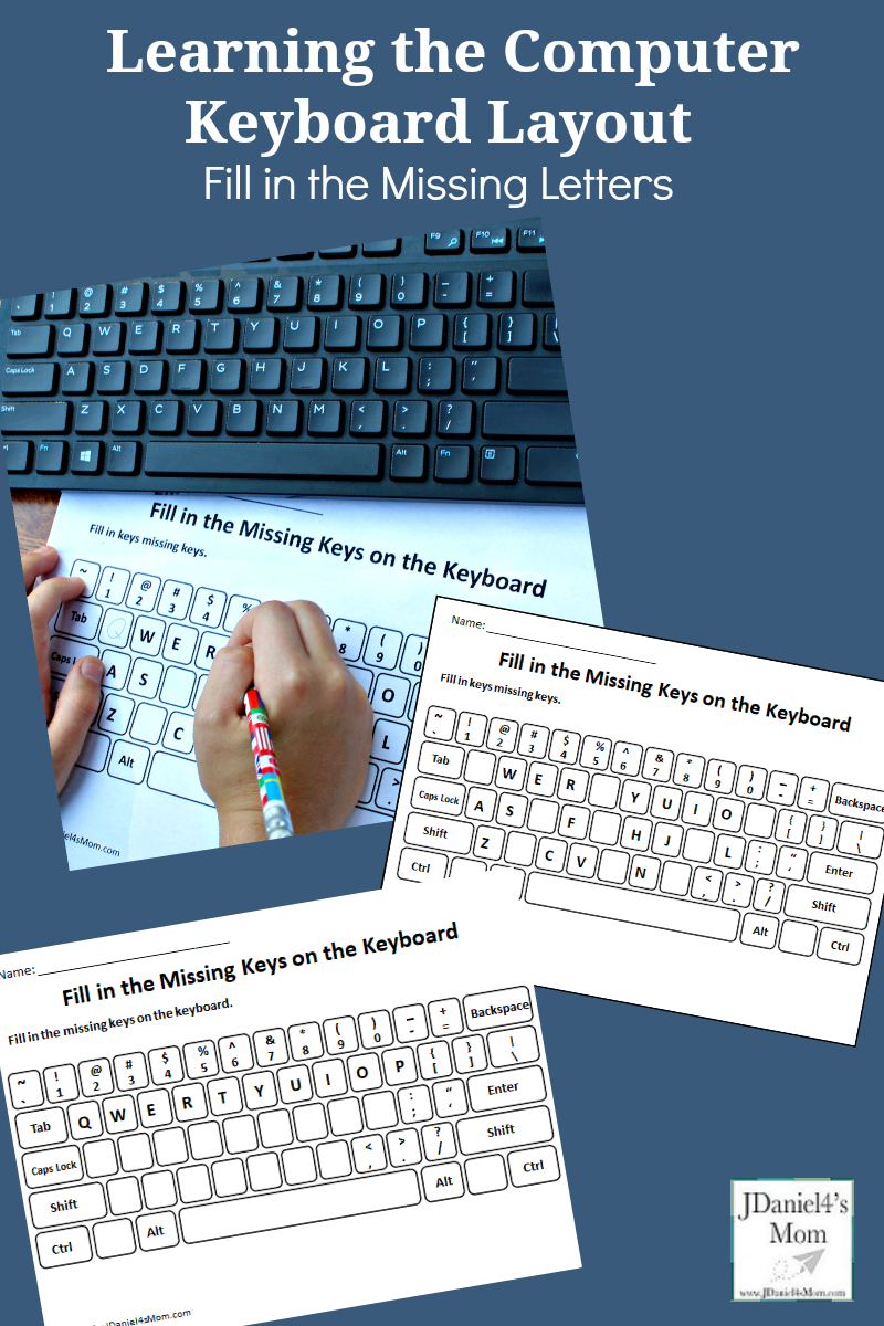 Learning the Computer Keyboard Layout - Fill in the Missing Letters Worksheets : This set includes computer keyboard layout pages for young children through 5 grade. Your children at home or students at school will have fun exploring them.