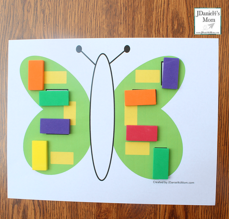 Let's Explore Shapes in Mats with a Butterfly Theme - Rectangle Shapes
