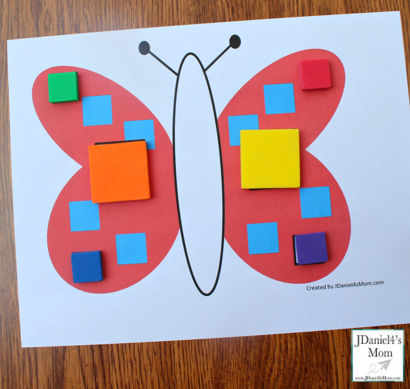 Let's Explore Shapes in Mats with a Butterfly Theme- Square Mat