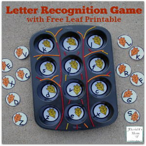 Letter Recognition Game with Free Leaf Printable