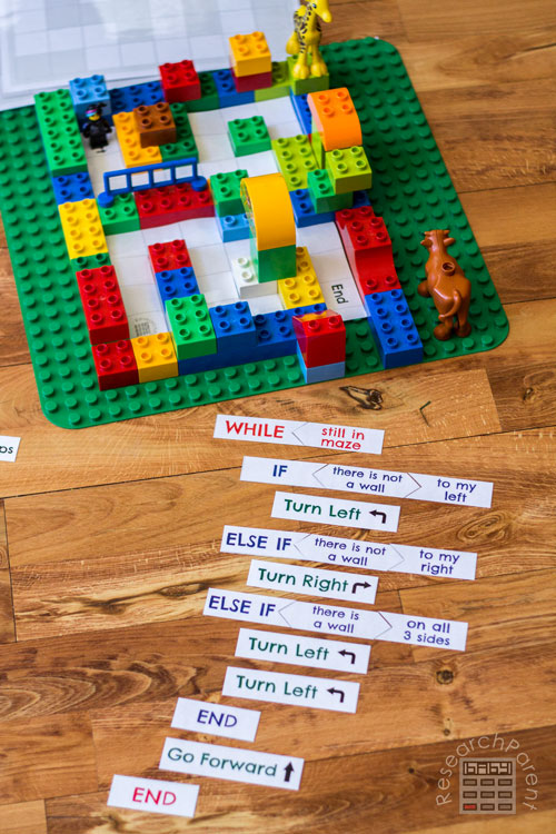 Amazing Offline Coding Games To Try Right Now With Your Kids - Coding a LEGO Maze