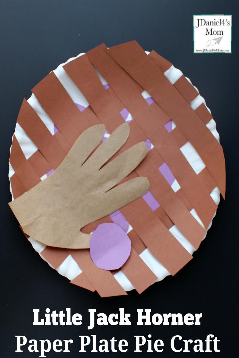 Little Jack Horner Paper Plate Pie Craft