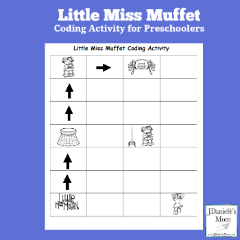 Little Miss Muffet Coding Activity for Preschoolers