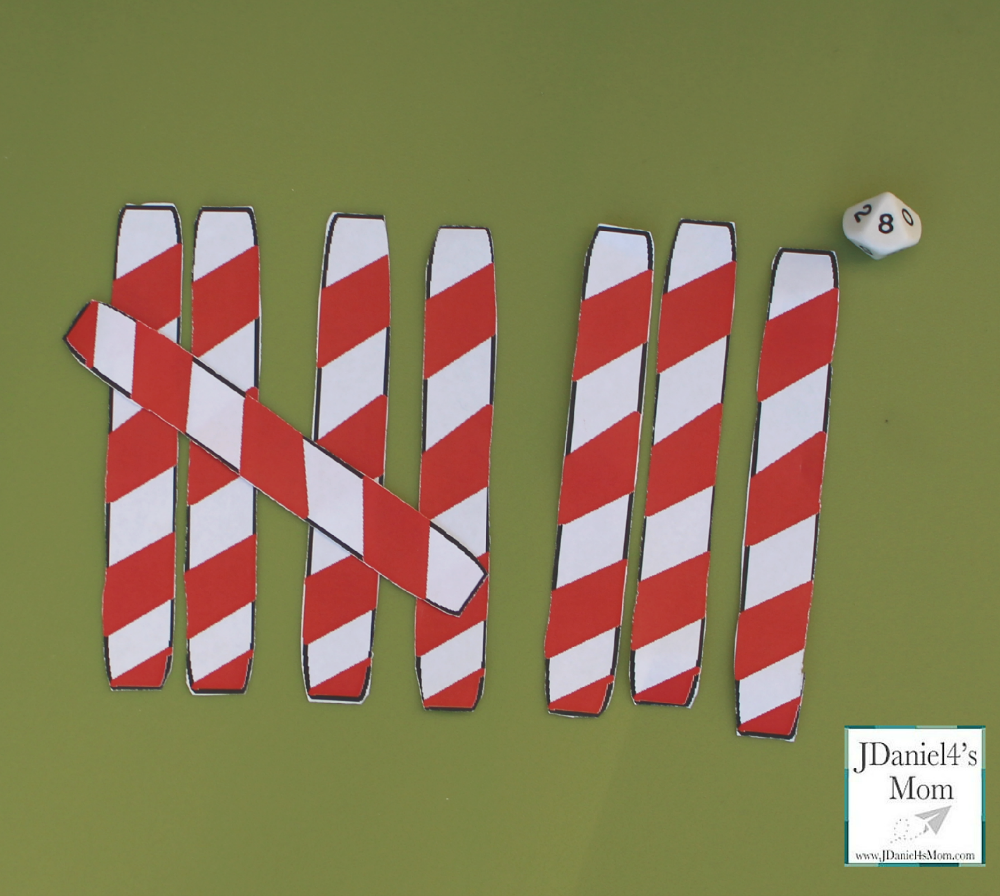 Math Game- Candy Cane Tally Marks This is a fun way to build numbers and work on counting skills.