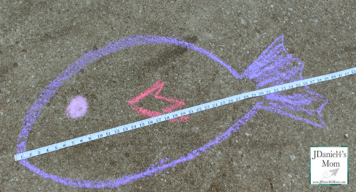 Math for Kids- Measuring Chalk Drawings