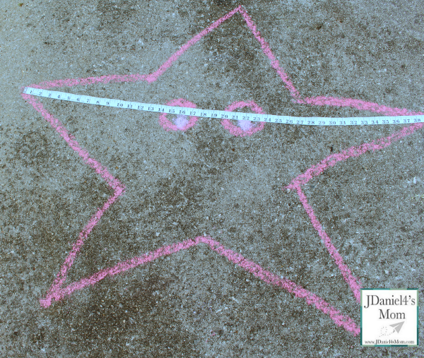 Math for Kids- Measuring Chalk Drawings- Measuring a Starfish