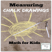 Math for Kids: Measuring Chalk Drawings- Measuring the Sun
