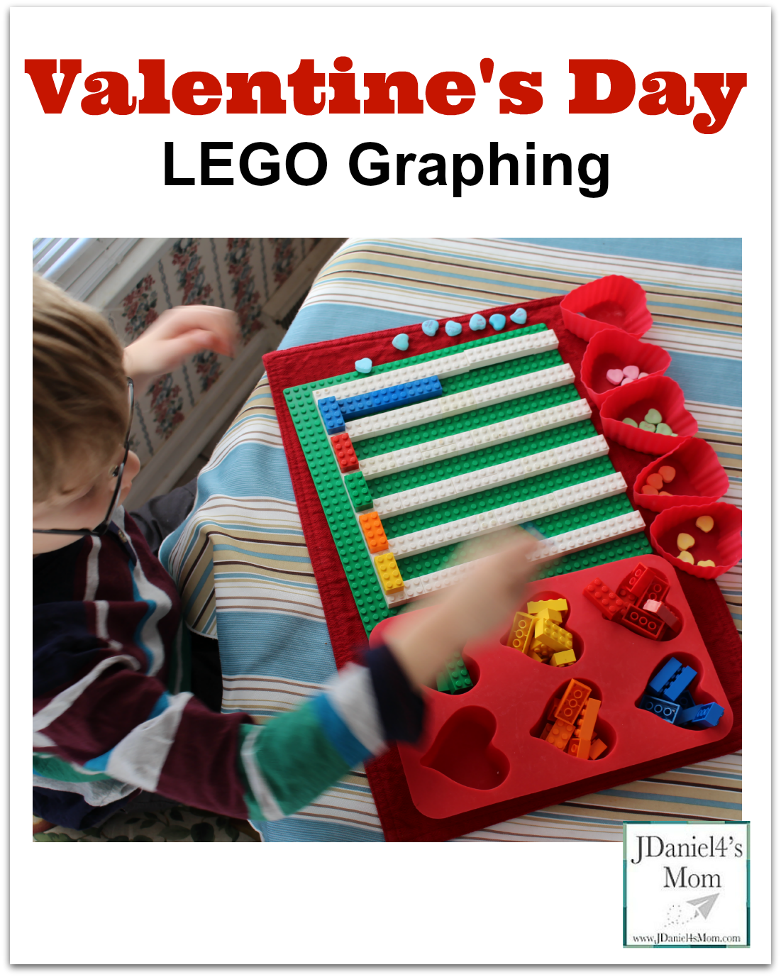 Math is Fun-Valentine's Day LEGO Graphing -Adding red bars