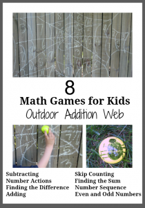 Math Games for Kids- Outdoor Addition Web