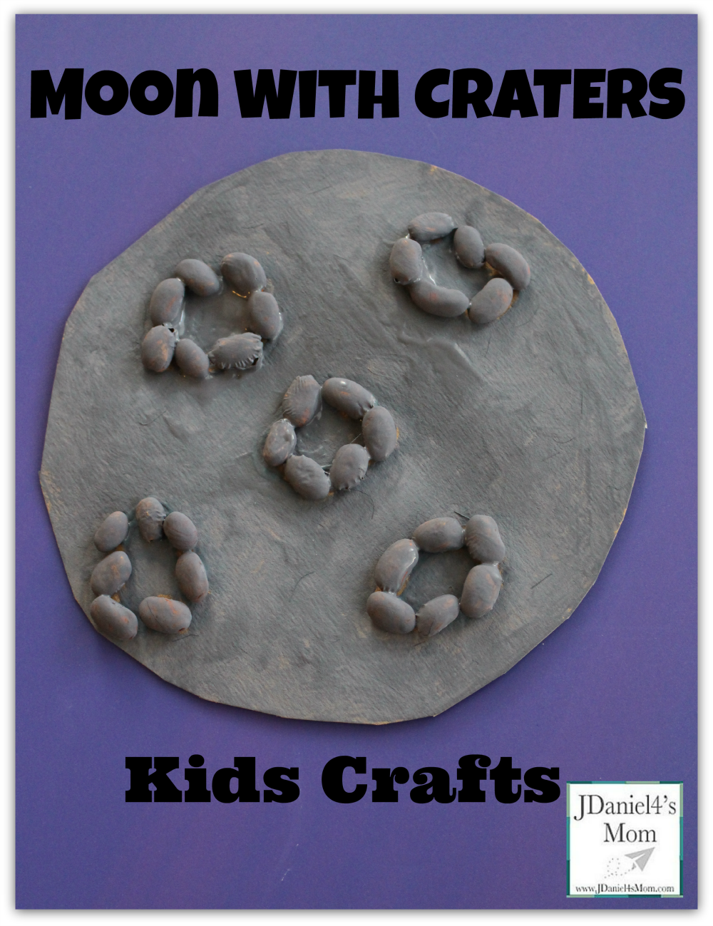 Moon with Craters Kids Crafts
