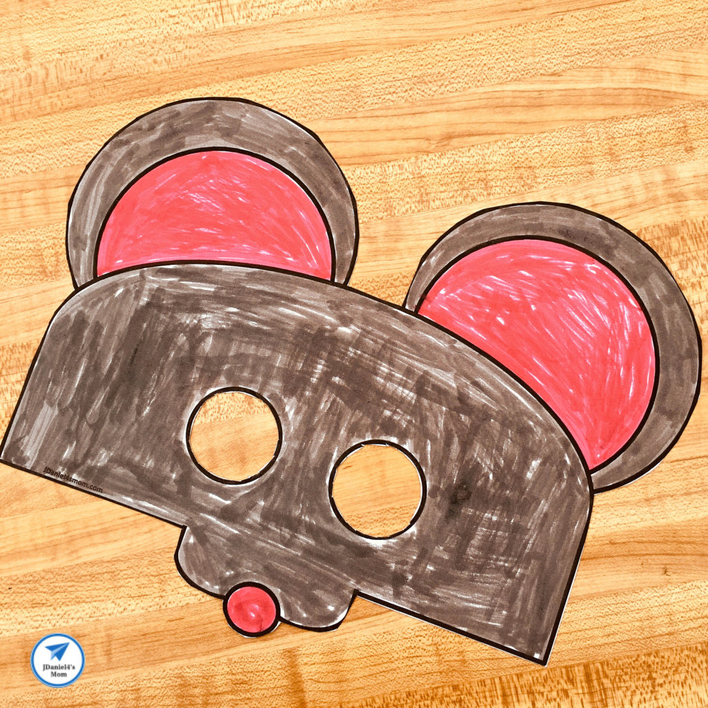 Free Printable Mouse Mask Based on If You Give a Mouse a Cookie