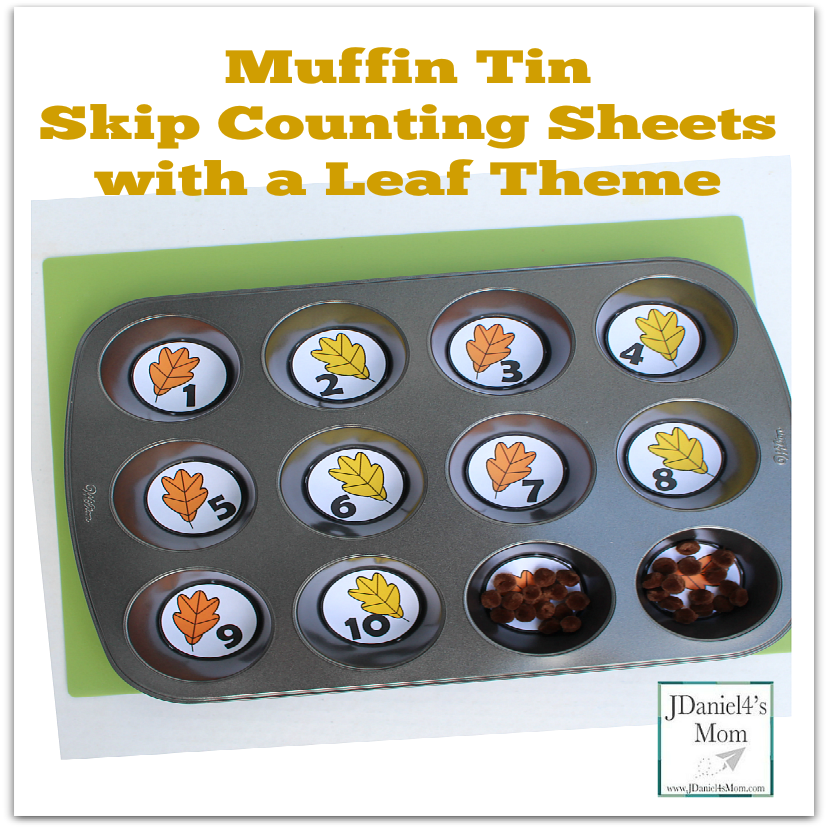 Muffin Tin Skip Counting Sheets with a Leaf Theme - These could be used to explore a number of different math skills. We used them to explore skip counting and working with patterns.