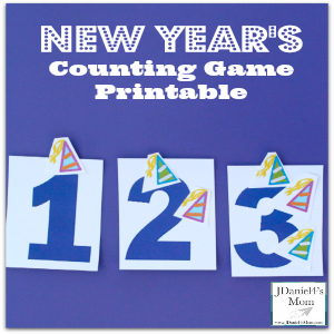 New Year's Counting Game Printable