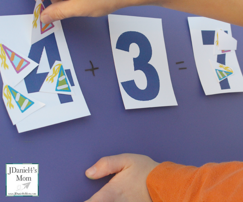 New Year's Counting Game Printable- Printable numbers and party celebration counters can be used in fun year ending or year beginning games.