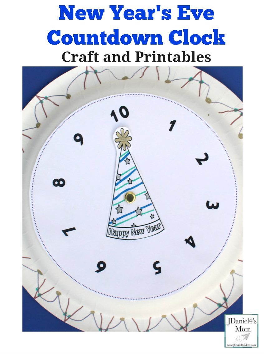 New Year's Eve Countdown Clock Craft and Printables