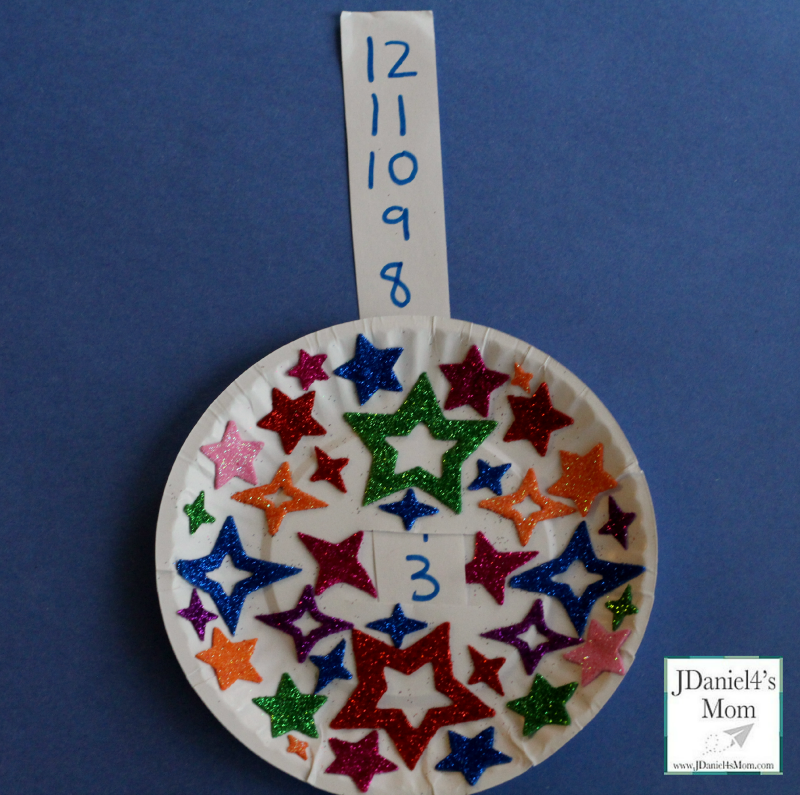 New Years Eve Countdown Craft for Kids- Counting Up
