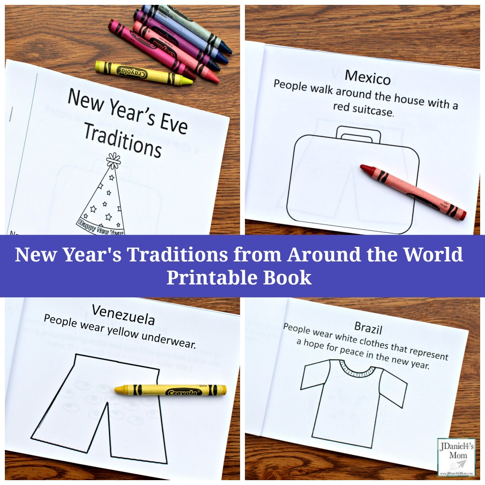 New Year's Traditions from Around the World Printable Book for Kids