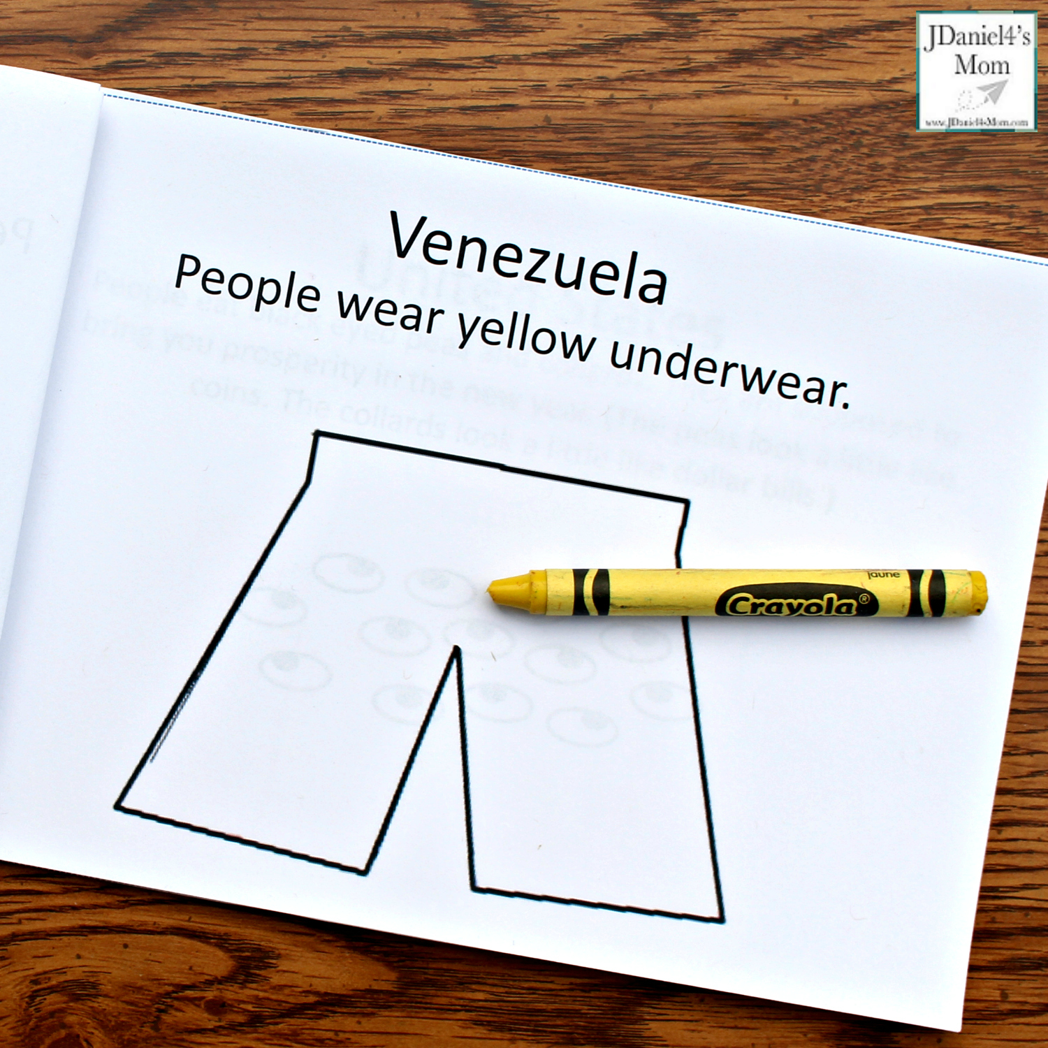 New Year's Traditions from Around the World Printable Book - Venezuela