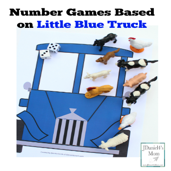 Number Games Based on Little Blue Truck Books