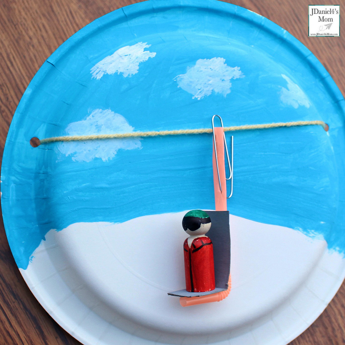 Olympic Activities for Kids: Ski Lift Paper Plate Craft- This is the third in a series for five Olympic themed science and craft activities. This project explores using a pulley and creating a ski lift. This would be fun to do during the Winter Olympics. Students at school or children at home with have fun creating this interactive craft.