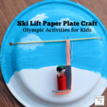 Olympic Activities for Kids: Ski Lift Paper Plate Craft- This is the third in a series for five Olympic themed science and craft activities. This project explores using a pulley and creating a ski lift. This would be fun to do during the Winter Olympics..