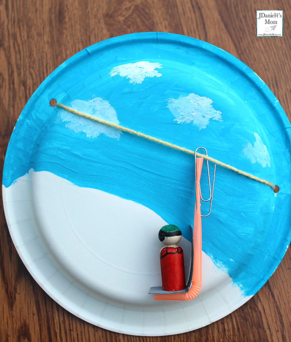 Olympic Activities for Kids: Ski Lift Paper Plate Craft- This is the third in a series for five Olympic themed science and craft activities. This project explores using a pulley and creating a ski lift. This would be fun to do during the Winter Olympics. Students at school or children at home with have fun creating this interactive craft. Making the lift chair move it fun too. This is so much fun.