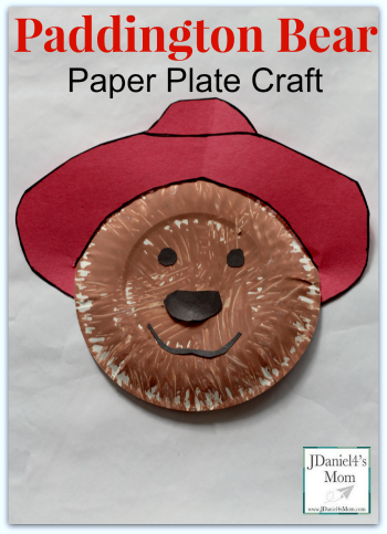 Paddington Bear Paper Plate Craft for Kids