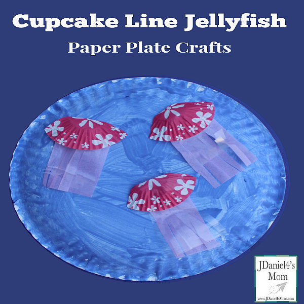 Paper Plate Crafts - Cupcake Liner Jellyfish