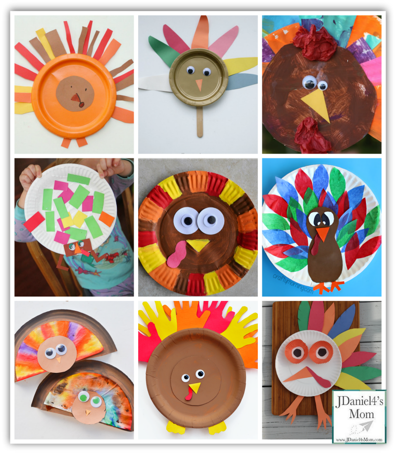 Thanksgiving Crafts for Kids- Paper Plate Turkeys