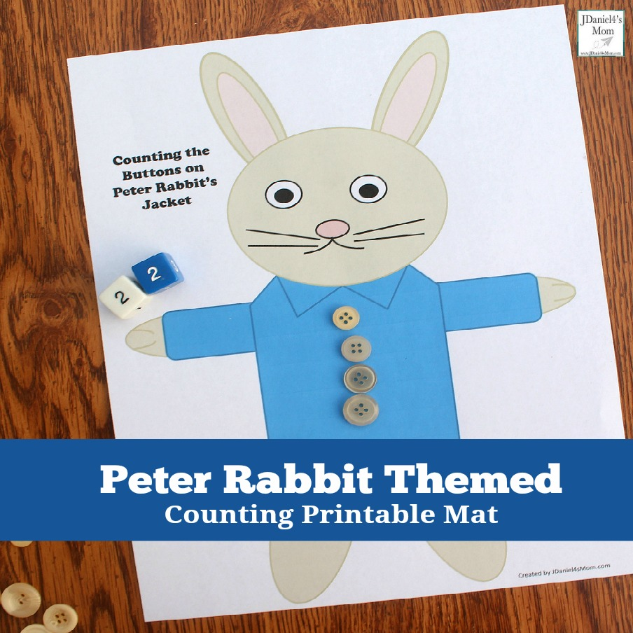 Counting the Buttons on Peter Rabbit\'s Jacket Printable Activity