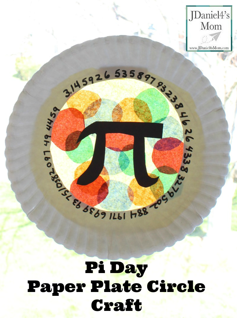 Pi Day Paper Plate Craft - This craft features some of the numbers in Pi, the Pi sign and loads of circles.