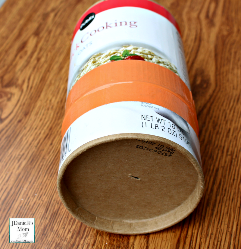 Pinhole Camera - How to Make One from an Oatmeal Container- Hole in the bottom