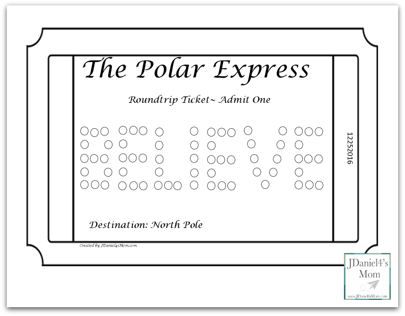 Polar Express Coloring Pages for Kids - These set includes a bell and a train ticket