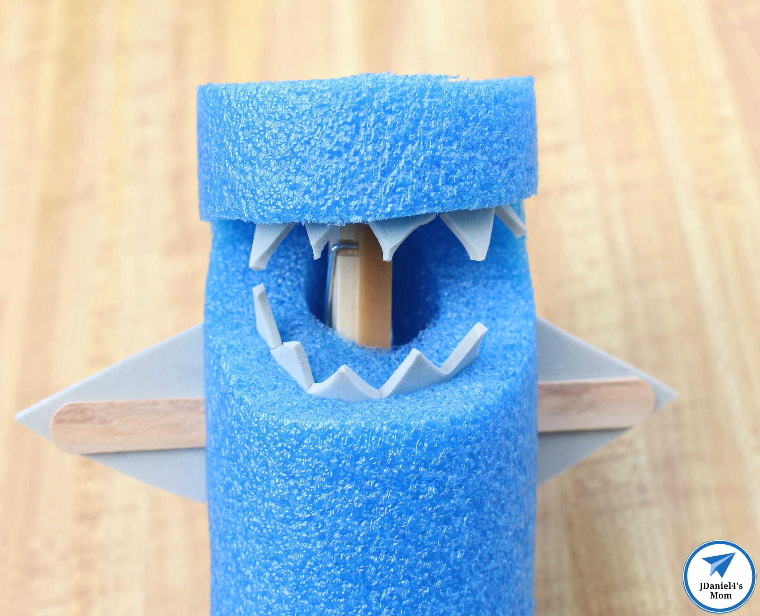 Pool Noodle Shark Teeth In with Logo