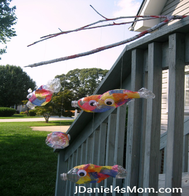 Pout-Pout Fish Recycled Fish Mobile