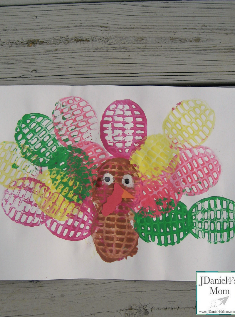 Arts and Crafts for Kids- Potato Masher Turkey