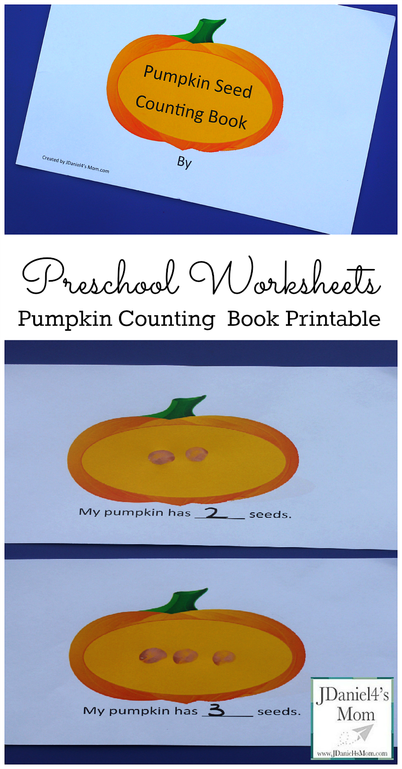 Preschool Worksheets Pumpkin Counting Book Printable