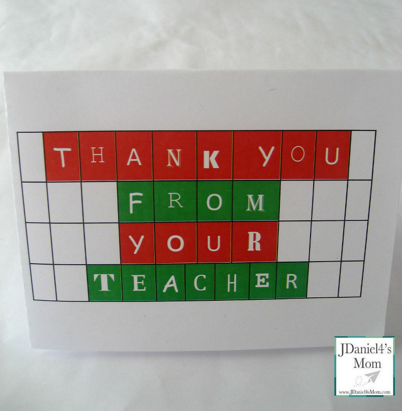 photograph about Free Printable Thank You Cards for Teachers named Printable Thank By yourself Playing cards for Instructors