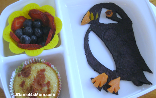 Puffin Muffin Recipe Served in a Bento