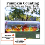 Pumpkin Counting Activity Cards and Sensory Bottle